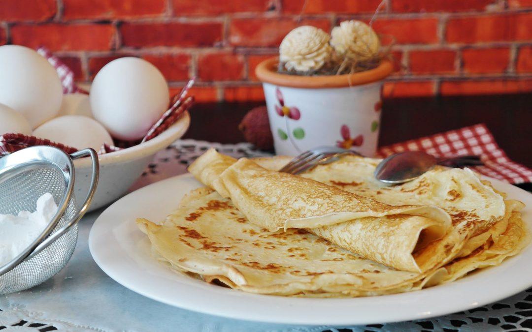 Crepes senza glutine e crema Daiuntai al pistacchio